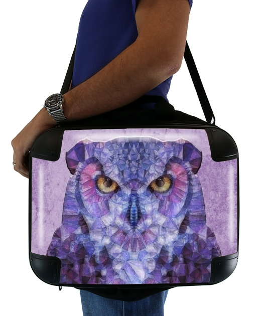 "funny owl for Laptop briefcase 15"" / Notebook / Tablet"