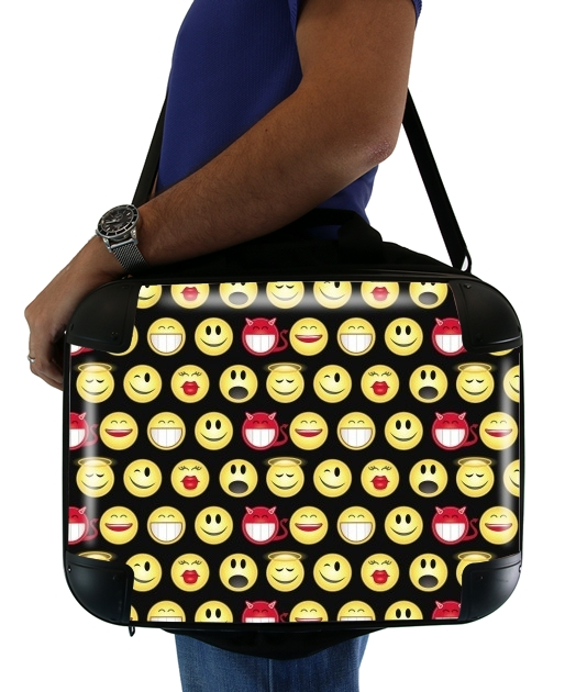 "funny smileys for Laptop briefcase 15"" / Notebook / Tablet"