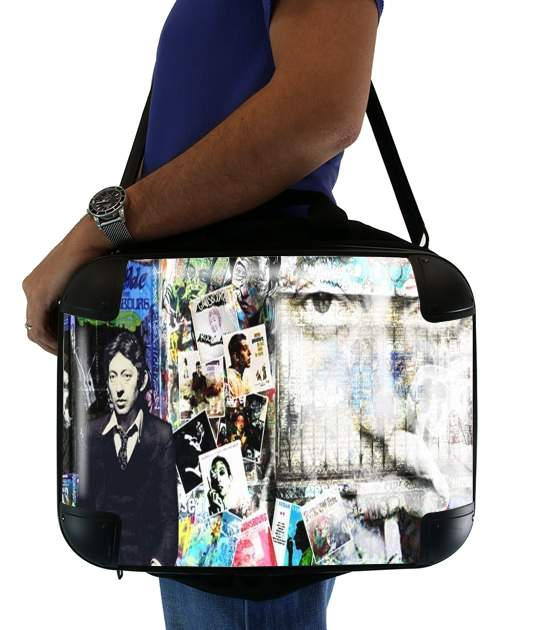 "Gainsbourg Smoke for Laptop briefcase 15"" / Notebook / Tablet"