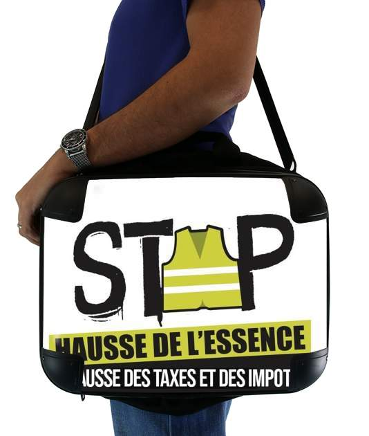"Gilet Jaune Stop aux taxes for Laptop briefcase 15"" / Notebook / Tablet"