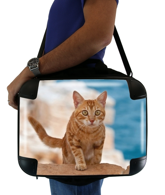 "Ginger kitten on a cliff for Laptop briefcase 15"" / Notebook / Tablet"