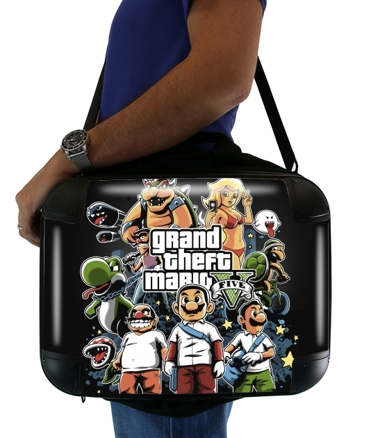"Grand Theft Mario for Laptop briefcase 15"" / Notebook / Tablet"