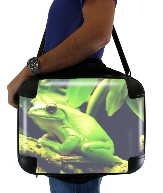 "Green Frog for Laptop briefcase 15"" / Notebook / Tablet"