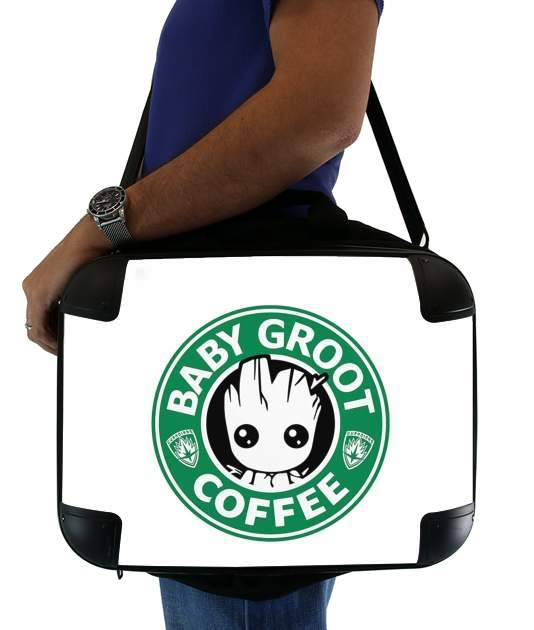 "Groot Coffee for Laptop briefcase 15"" / Notebook / Tablet"