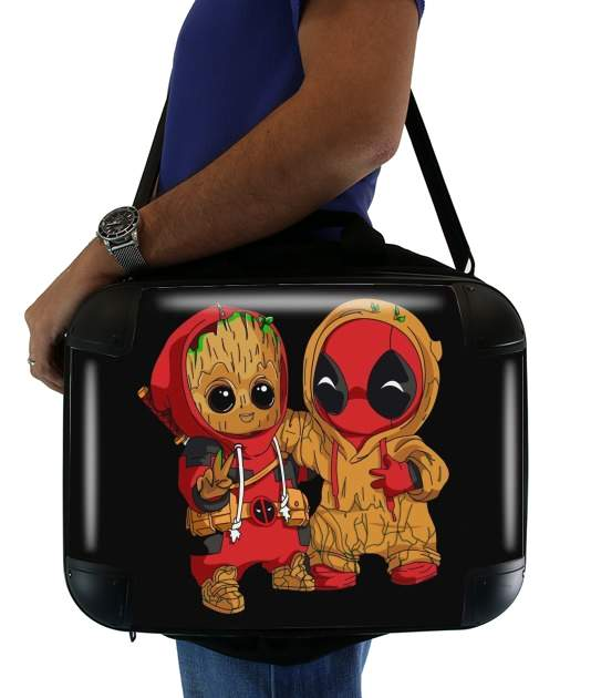 "Groot x Deadpool for Laptop briefcase 15"" / Notebook / Tablet"
