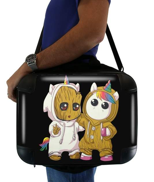 "Groot x Unicorn for Laptop briefcase 15"" / Notebook / Tablet"