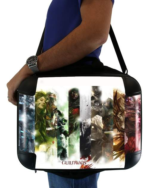 "Guild Wars 2 All classes art for Laptop briefcase 15"" / Notebook / Tablet"