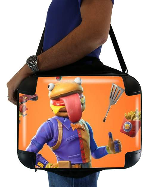 "Hamburger Fortnite skins Beef Boss for Laptop briefcase 15"" / Notebook / Tablet"
