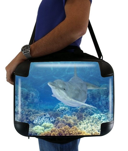 "happy dolphins for Laptop briefcase 15"" / Notebook / Tablet"