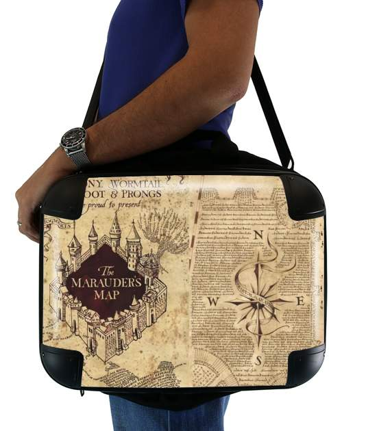 "Harry Potter Marauder Map for Laptop briefcase 15"" / Notebook / Tablet"