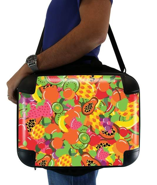 "Healthy Food: Fruits and Vegetables V1 for Laptop briefcase 15"" / Notebook / Tablet"
