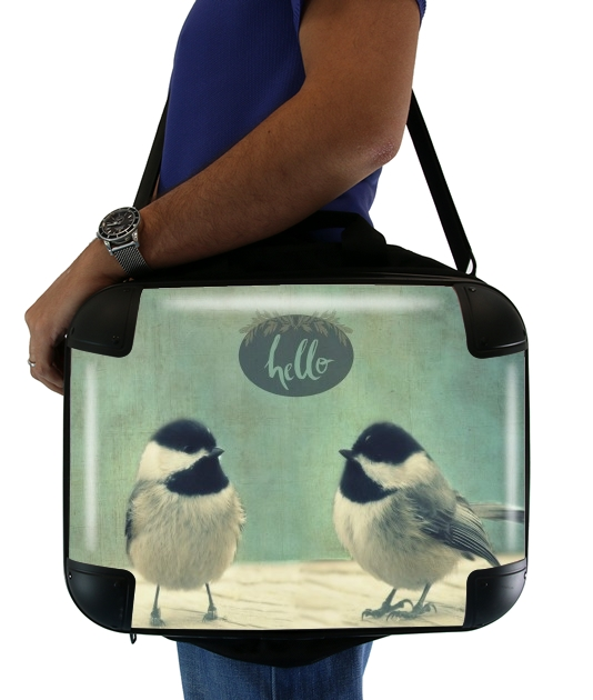 "Hello Birds for Laptop briefcase 15"" / Notebook / Tablet"