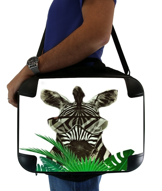 "Hipster Zebra Style for Laptop briefcase 15"" / Notebook / Tablet"