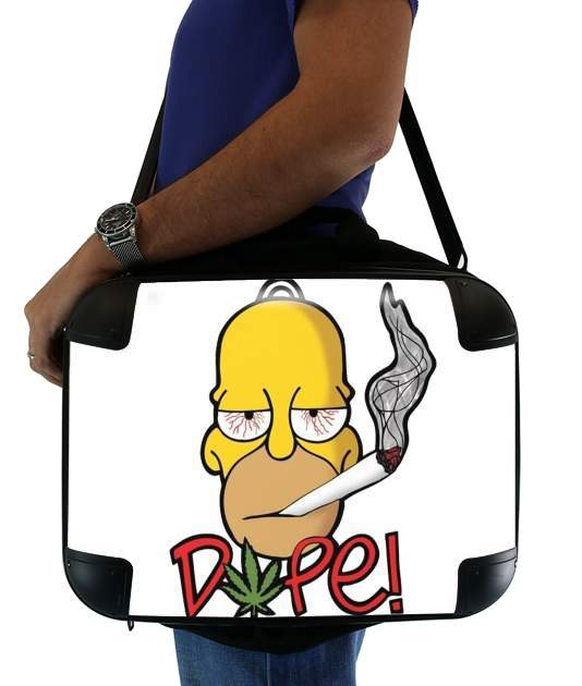 "Homer Dope Weed Smoking Cannabis for Laptop briefcase 15"" / Notebook / Tablet"