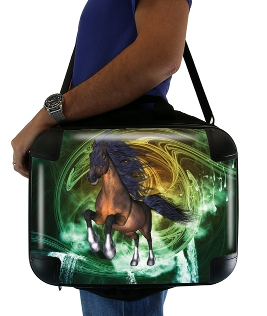 "Horse with blue mane for Laptop briefcase 15"" / Notebook / Tablet"