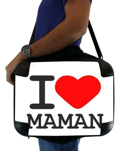 "I love Maman for Laptop briefcase 15"" / Notebook / Tablet"