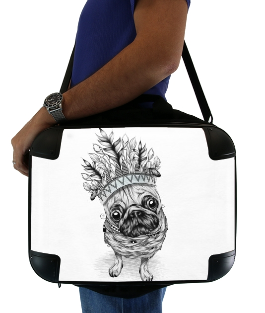 "Indian Pug for Laptop briefcase 15"" / Notebook / Tablet"