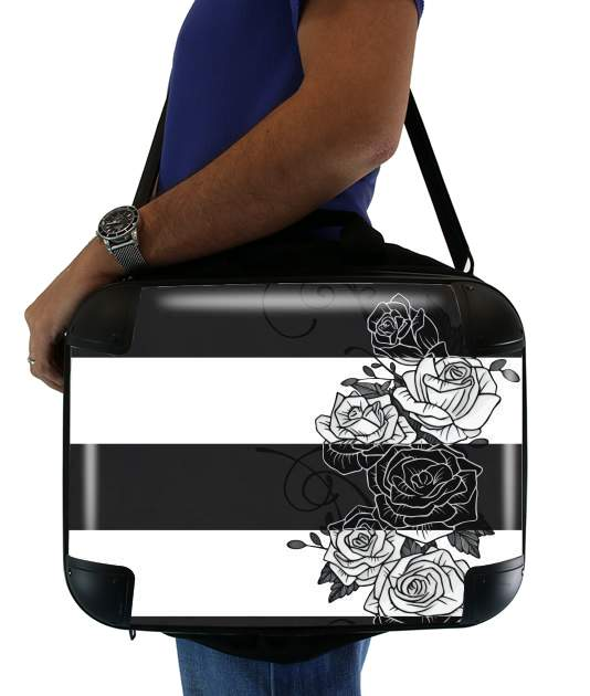"Inverted Roses for Laptop briefcase 15"" / Notebook / Tablet"