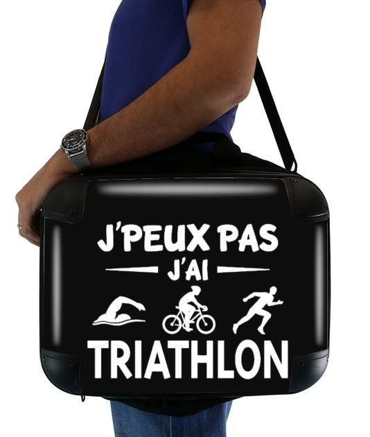 "Je peux pas j ai Triathlon for Laptop briefcase 15"" / Notebook / Tablet"
