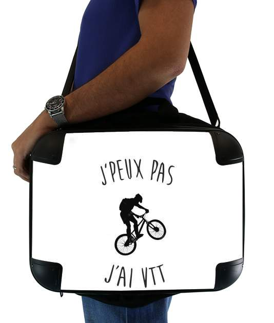 "Je peux pas j ai VTT BIKE Mountain for Laptop briefcase 15"" / Notebook / Tablet"