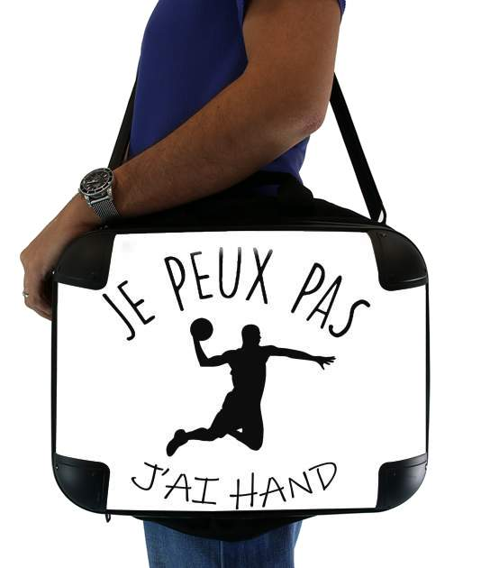 "Je peux pas jai handball for Laptop briefcase 15"" / Notebook / Tablet"