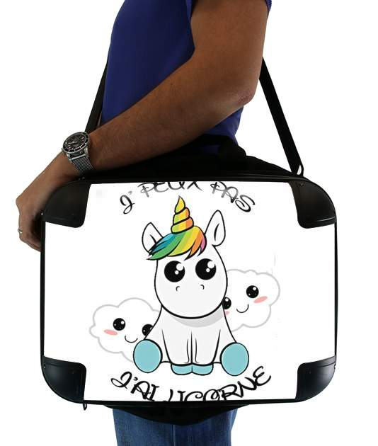 "Je peux pas j'ai licorne for Laptop briefcase 15"" / Notebook / Tablet"