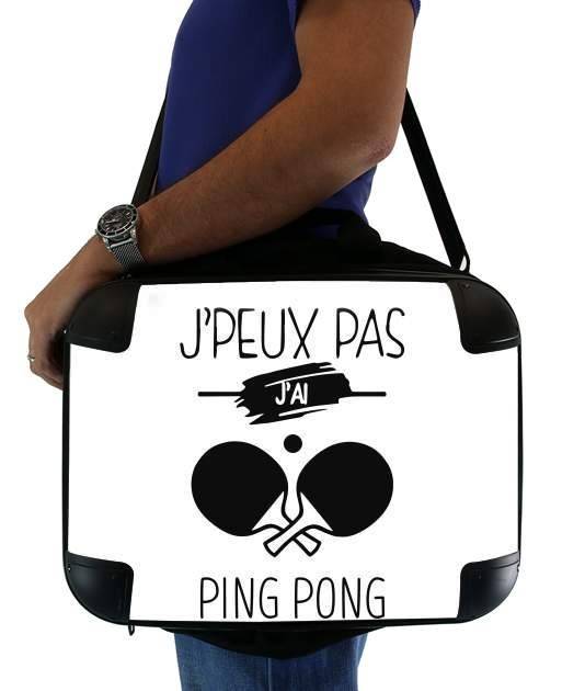 "Je peux pas jai ping pong for Laptop briefcase 15"" / Notebook / Tablet"