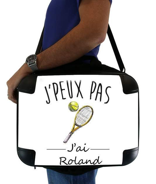 "Je peux pas jai roland - Tennis for Laptop briefcase 15"" / Notebook / Tablet"
