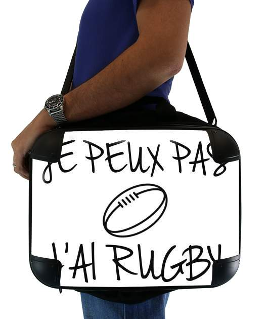 "Je peux pas jai rugby for Laptop briefcase 15"" / Notebook / Tablet"