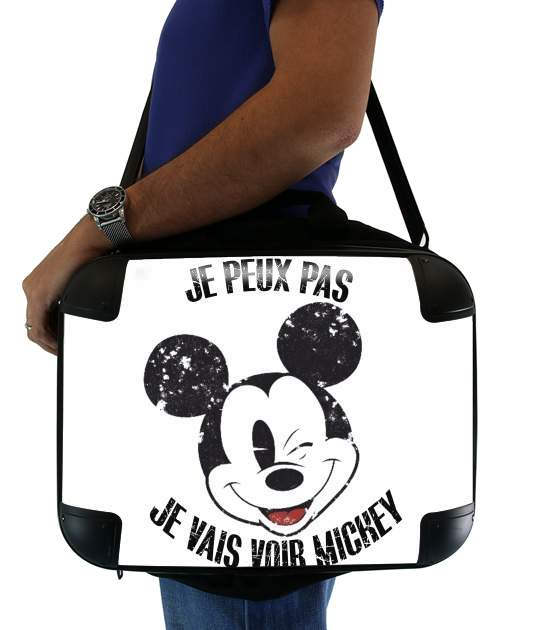 "Je peux pas je vais voir mickey for Laptop briefcase 15"" / Notebook / Tablet"