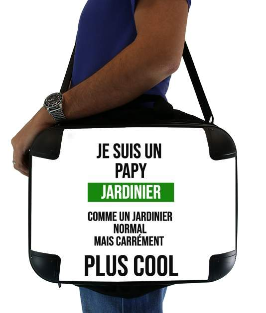 "Je suis un papy jardinier comme un papy normal mais plus cool for Laptop briefcase 15"" / Notebook / Tablet"