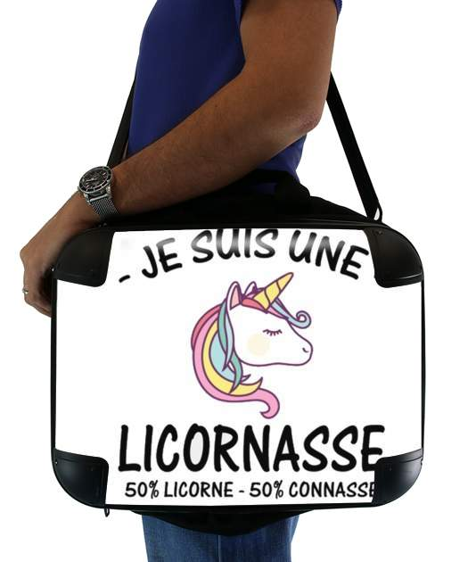 "Je suis une licornasse for Laptop briefcase 15"" / Notebook / Tablet"