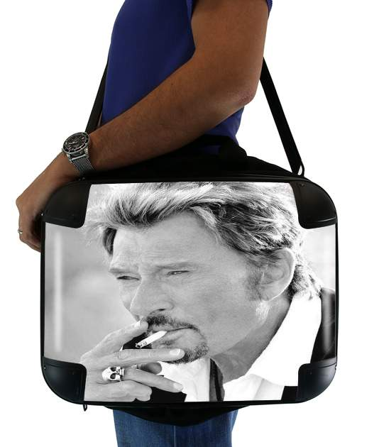 "johnny hallyday Smoke Cigare Hommage for Laptop briefcase 15"" / Notebook / Tablet"