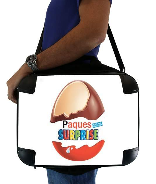 "Joyeuses Paques Inspired by Kinder Surprise for Laptop briefcase 15"" / Notebook / Tablet"
