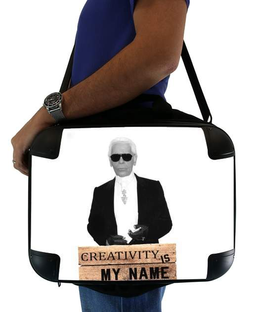 "Karl Lagerfeld Creativity is my name for Laptop briefcase 15"" / Notebook / Tablet"