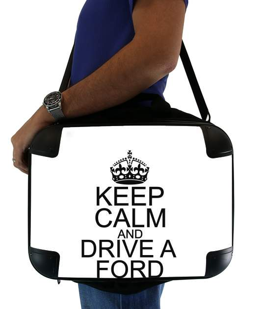 "Keep Calm And Drive a Ford for Laptop briefcase 15"" / Notebook / Tablet"