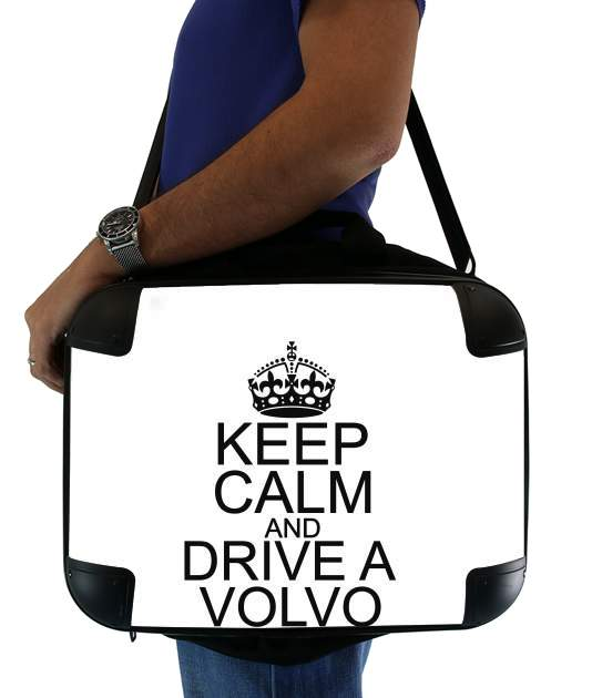 "Keep Calm And Drive a Volvo for Laptop briefcase 15"" / Notebook / Tablet"