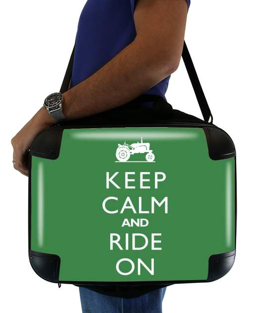 "Keep Calm And ride on Tractor for Laptop briefcase 15"" / Notebook / Tablet"