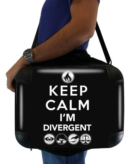 "Keep Calm Divergent Faction for Laptop briefcase 15"" / Notebook / Tablet"