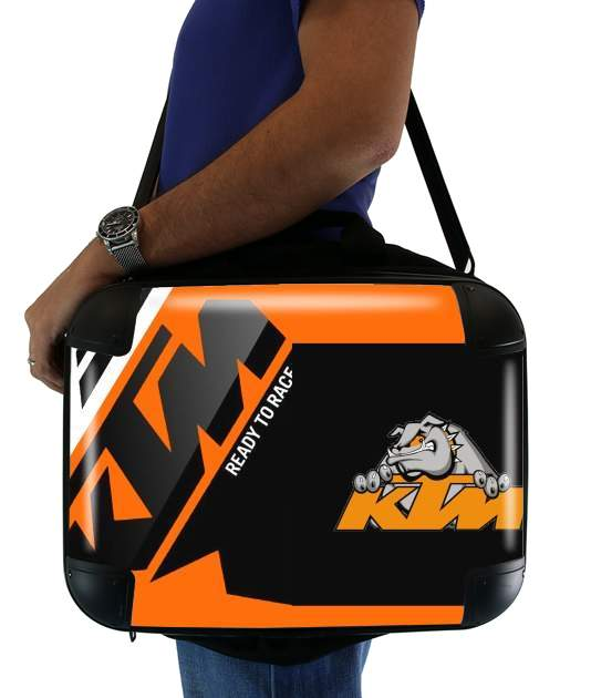 "KTM Racing Orange And Black for Laptop briefcase 15"" / Notebook / Tablet"