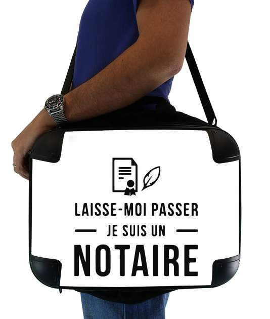 "Laisse moi passer je suis un notaire cadeau for Laptop briefcase 15"" / Notebook / Tablet"