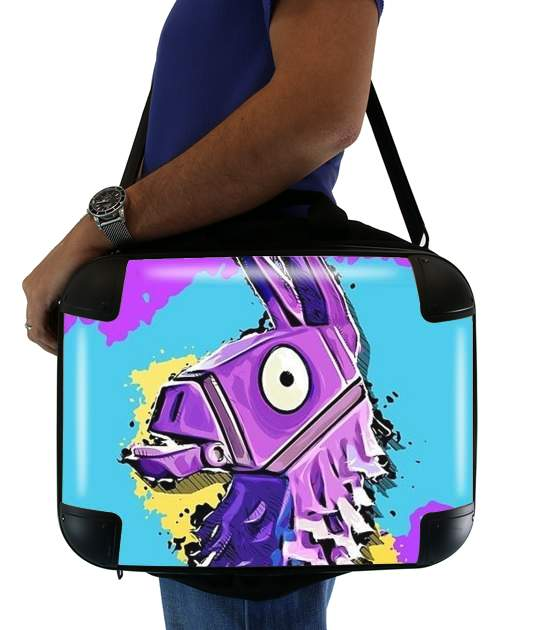 "Lama Fortnite for Laptop briefcase 15"" / Notebook / Tablet"