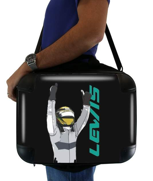 "Lewis Hamilton F1 for Laptop briefcase 15"" / Notebook / Tablet"
