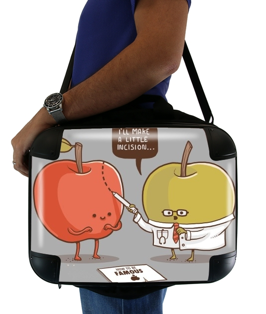 "Famous Apple for Laptop briefcase 15"" / Notebook / Tablet"