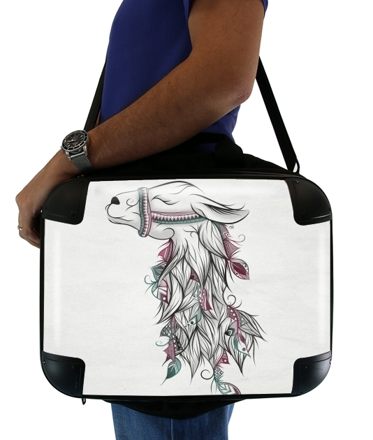 "Llama Happy for Laptop briefcase 15"" / Notebook / Tablet"