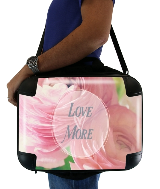 "Love More for Laptop briefcase 15"" / Notebook / Tablet"