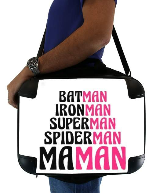 "Maman Super heros for Laptop briefcase 15"" / Notebook / Tablet"