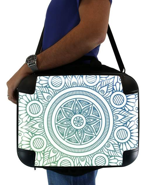 "Mandala Peaceful for Laptop briefcase 15"" / Notebook / Tablet"