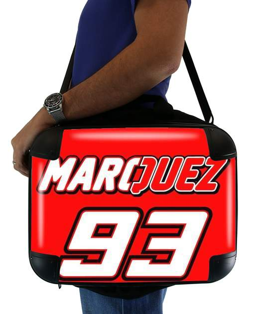"Marc marquez 93 Fan honda for Laptop briefcase 15"" / Notebook / Tablet"