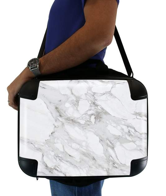 "Minimal Marble White for Laptop briefcase 15"" / Notebook / Tablet"